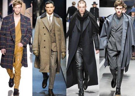 Модные пальто мужские
