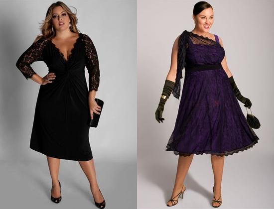 Платья для полных женщин на новый год