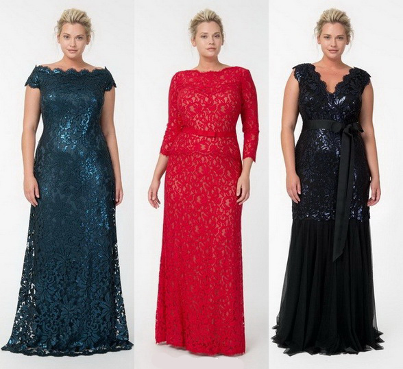 Новогодние платья 2014 для полных