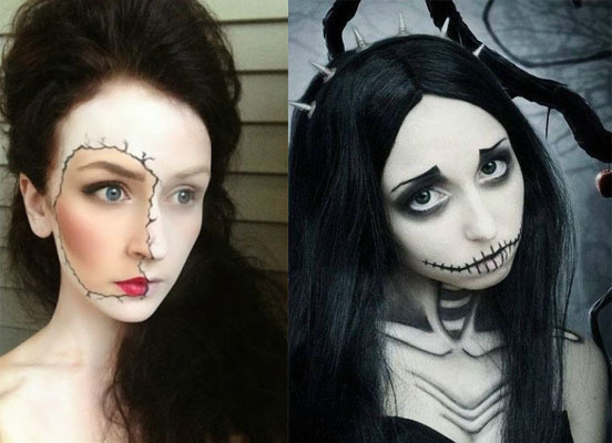 Хэллоуин как сделать макияж фото