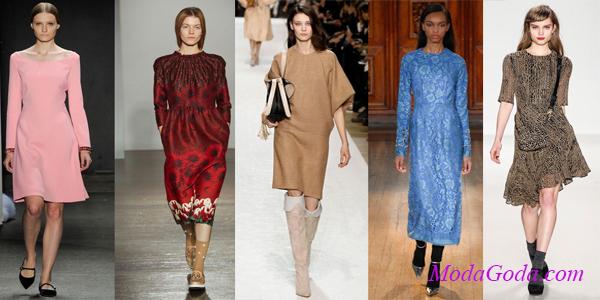Модные офисные платья осень-зима 2014-2015