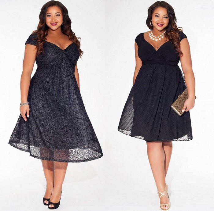 Модные платья для полных с