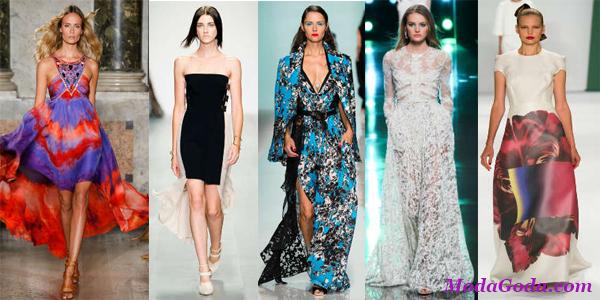 Модные женские платья весна-лето 2015