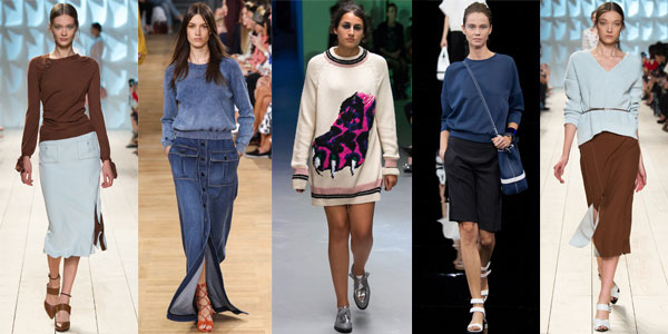 Модные женские свитера, джемперы и свиншоты весна-лето 2015