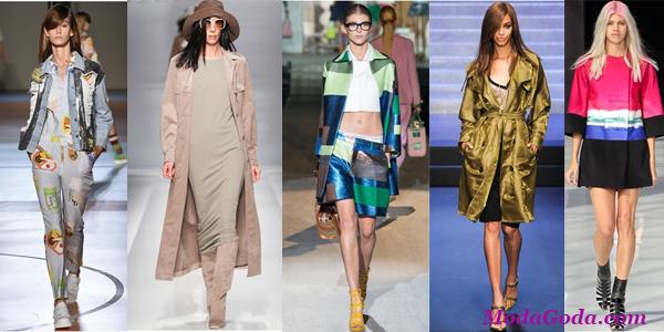 Модные женские куртки и плащи весна-лето 2015