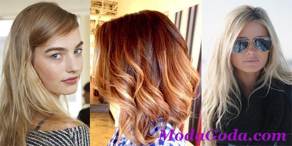 Модные цвета волос весна-лето 2015