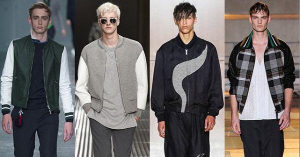 Модные цвета и принты мужских курток и плащей весна-лето 2015