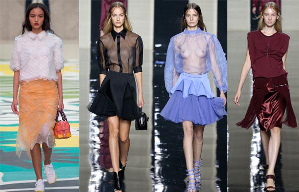 Многофактурные юбки 2015