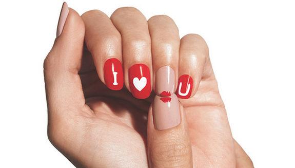 Маникюр ко Дню влюбленных
