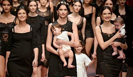 Показ Dolce & Gabbana в Милане Viva la Mama