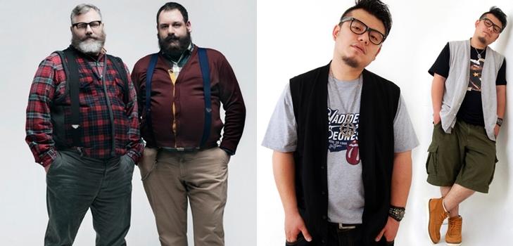 Модный толстый мужчина