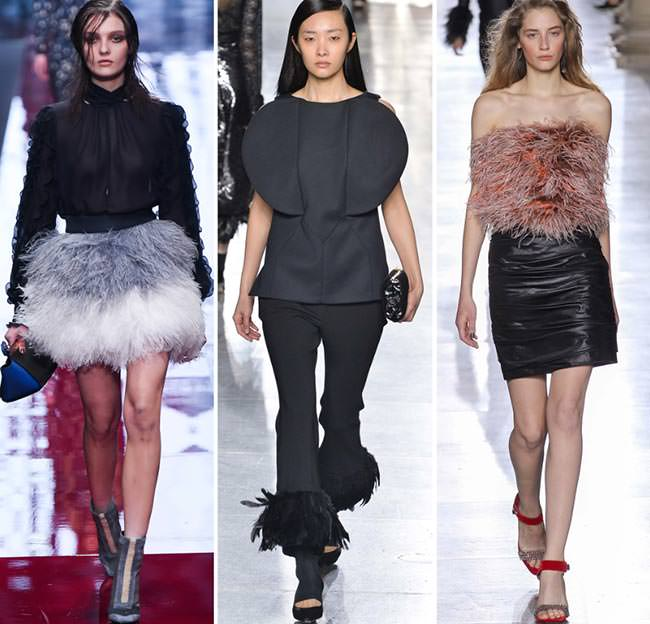 Одежда из перьев осень-зима 2015-2016