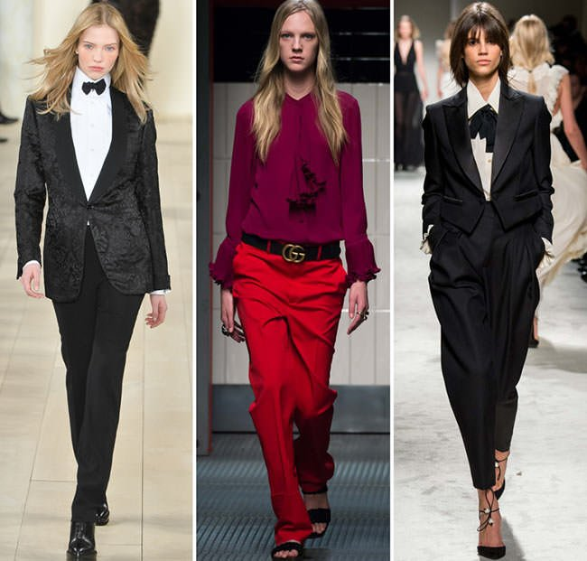 Мужской стиль в женской моде осень-зима 2015-2016