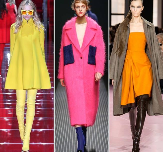 Яркие пальто осень-зима 2015-2016