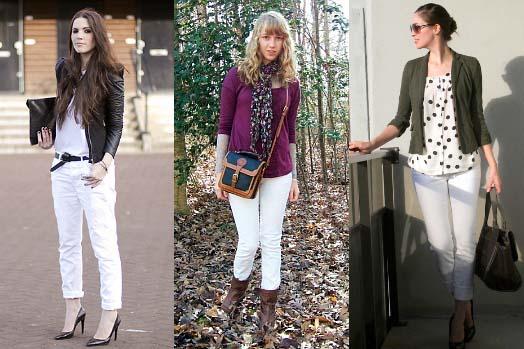 Как и с чем носить белые джинсы