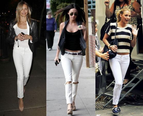 Как ис чем носить белые джинсы