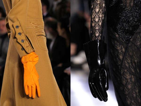 Модные резиновые перчатки