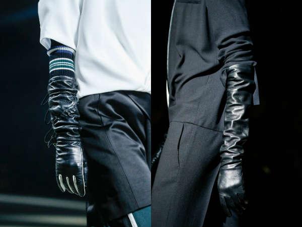Модные длинные перчатки