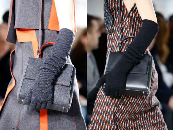 Модные перчатки из текстиля