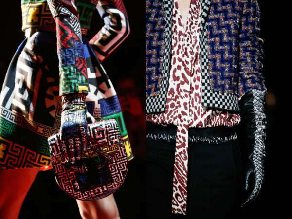 Модные женские перчатки с ярким принтом