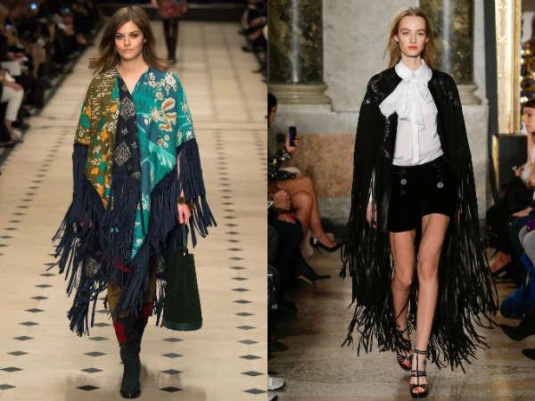 Модные плащи с бахромой осень-зима 2015-2016
