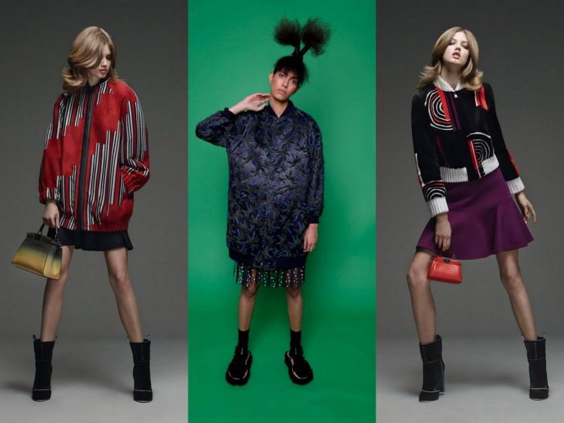 Удлиненные женские куртки бомберы