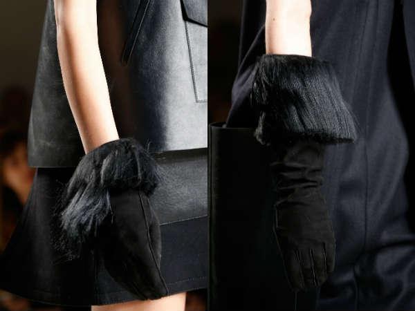 Перчатки с мехом осень-зима 2015-2016
