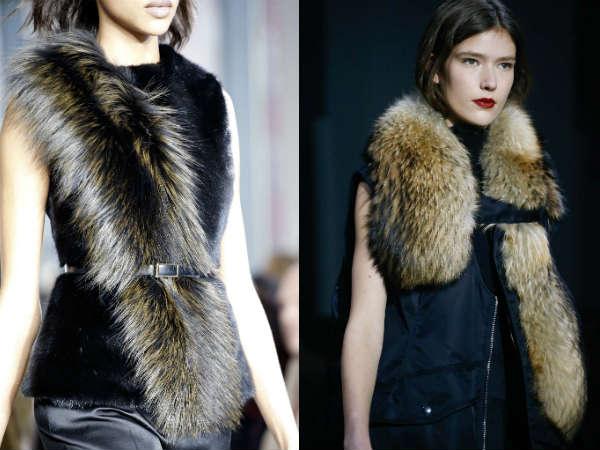 Модные меховые накидки осень-зима 2015-2016