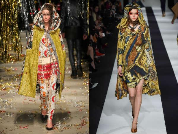 Модные принты женских плащей осень-зима 2015-2016
