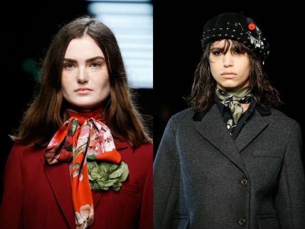 Модные косынки на шею осень-зима 2015-2016