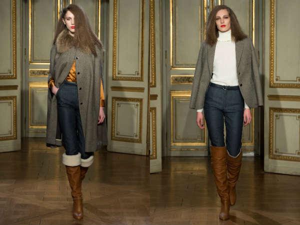 Модные женские джинсы с завышенной талией осень-зима 2015-2016