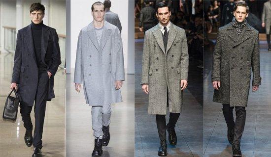 Двубортное мужское пальто осень-зима 2015-2016