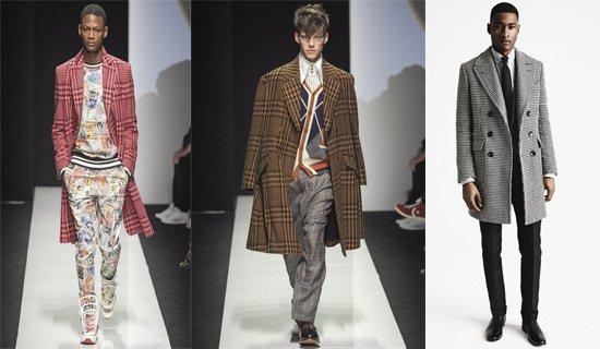 Модные расцветки мужских пальто осень-зима 2015-2106