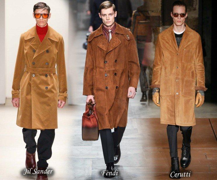 Вельветовые и замшевые мужские пальто осень-зима 2015-2016