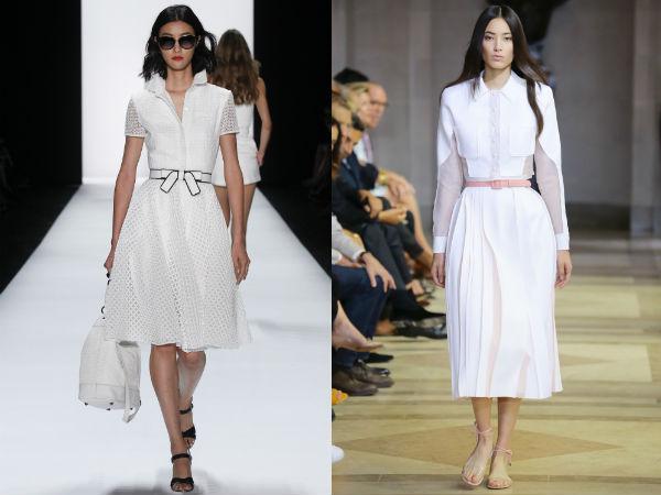 Деловые платья с расклешенными юбками