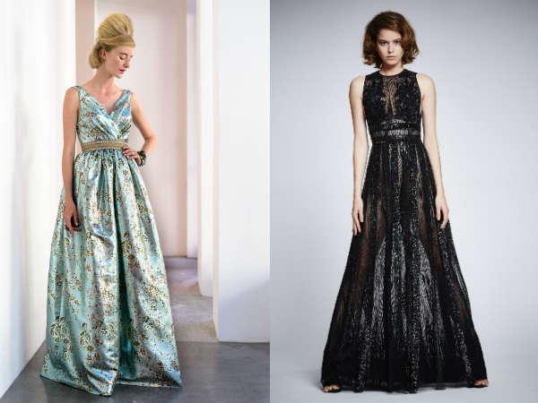 Вечерние и бальные платья с пышными юбками весна-лето 2016