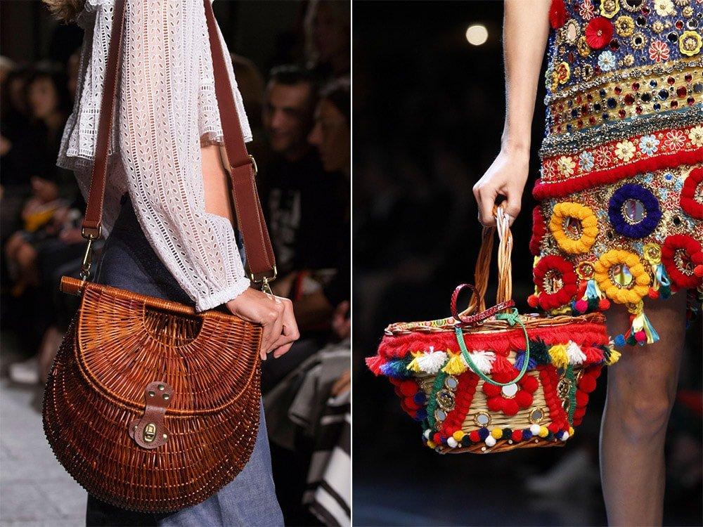 Плетеные сумки весна-лето 2016