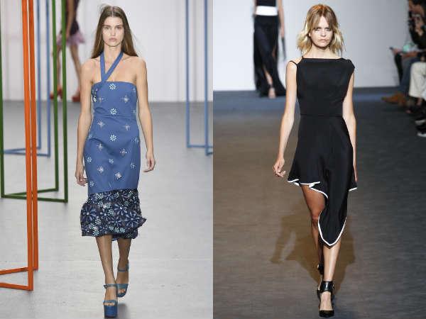Платья асимметричного кроя весна-лето 2016