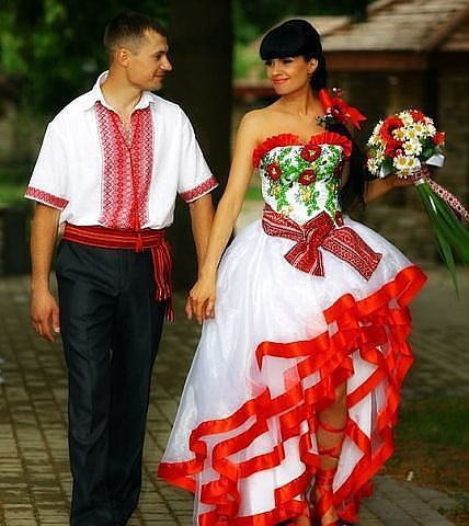Свадебные наряды в украинском стиле
