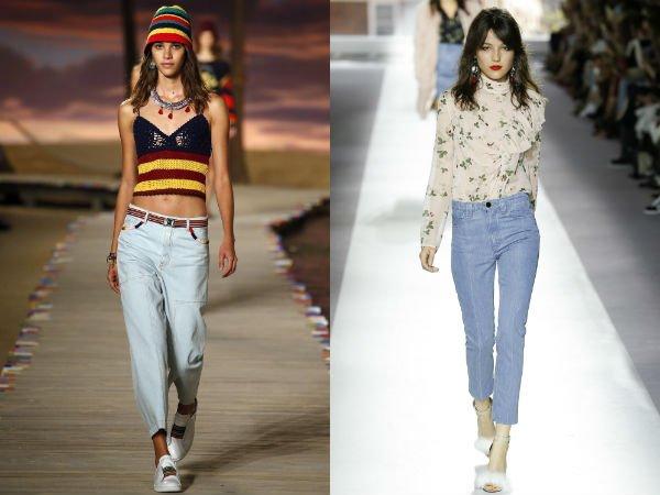 Укороченные джинсы 2016