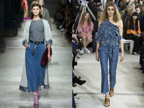 Укороченные джинсы весна-лето 2016