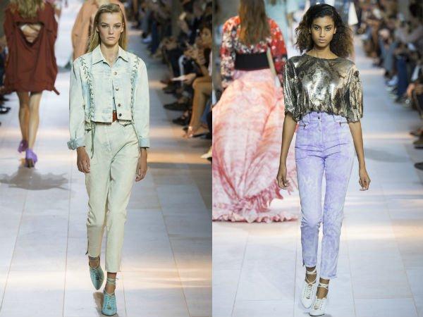 Модные цвета и принты женских джинсов весна-лето 2016