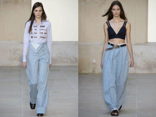 Широкие джинсы весна-лето 2016