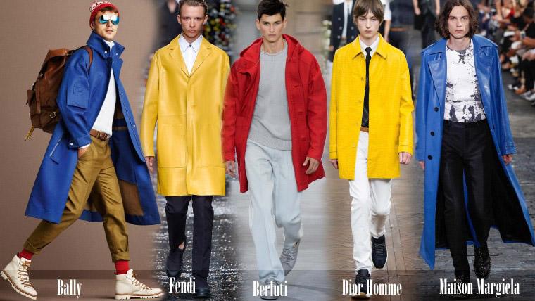 Мужские пальто ярких цветов