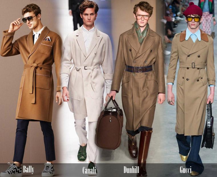 Мужские пальто с поясом