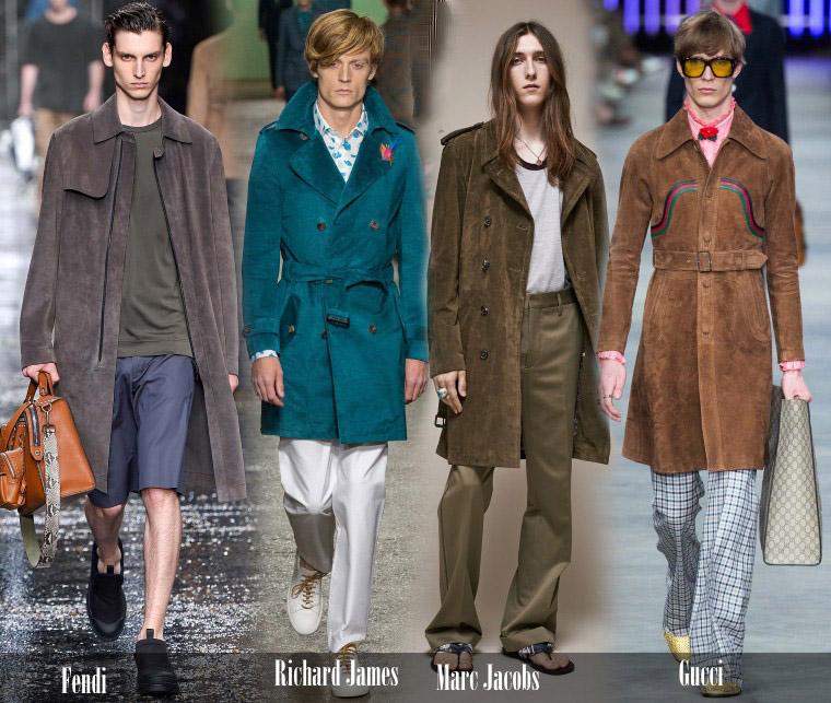 Мужские пальто из замша