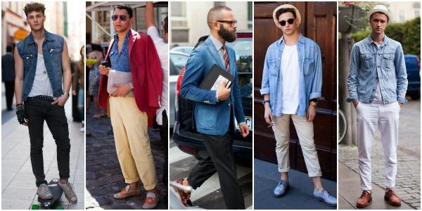 С чем и как носить джинсовые мужские рубашки