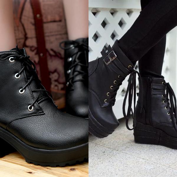 Женские ботинки на платформе осень 2016