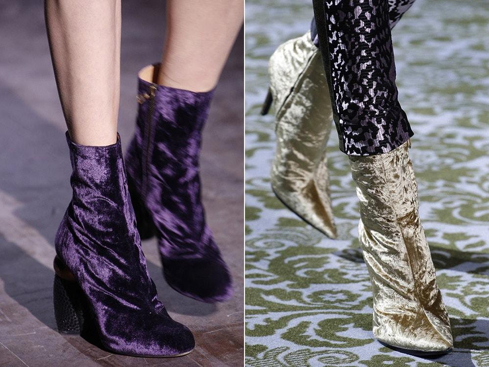 Женская обувь из бархата