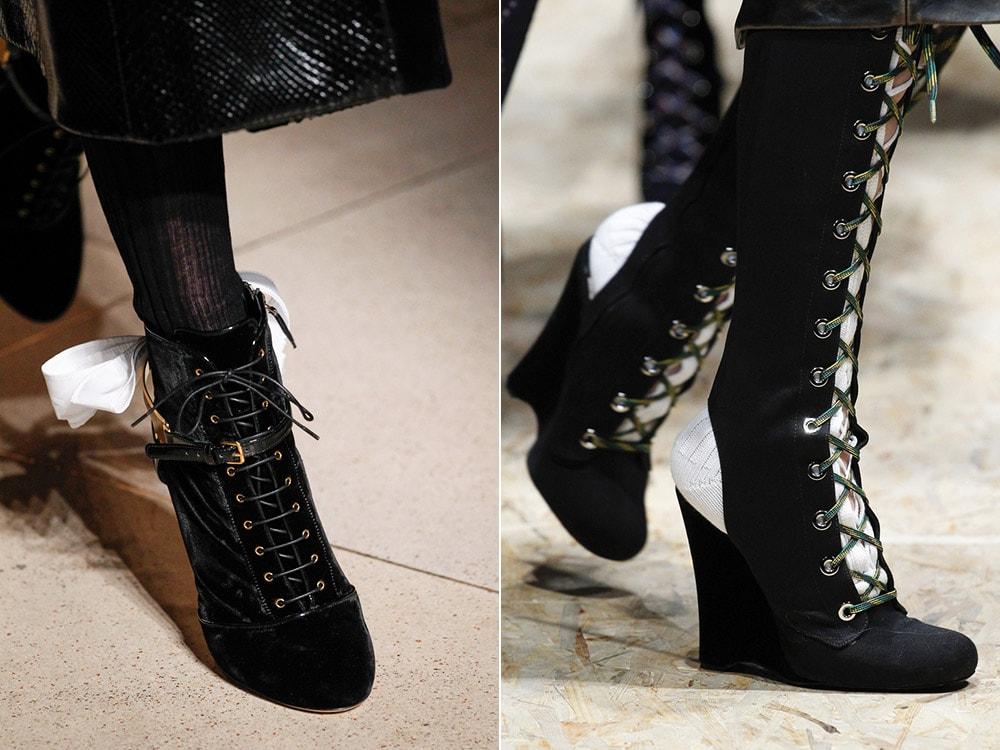 Женская обувь со шнурками